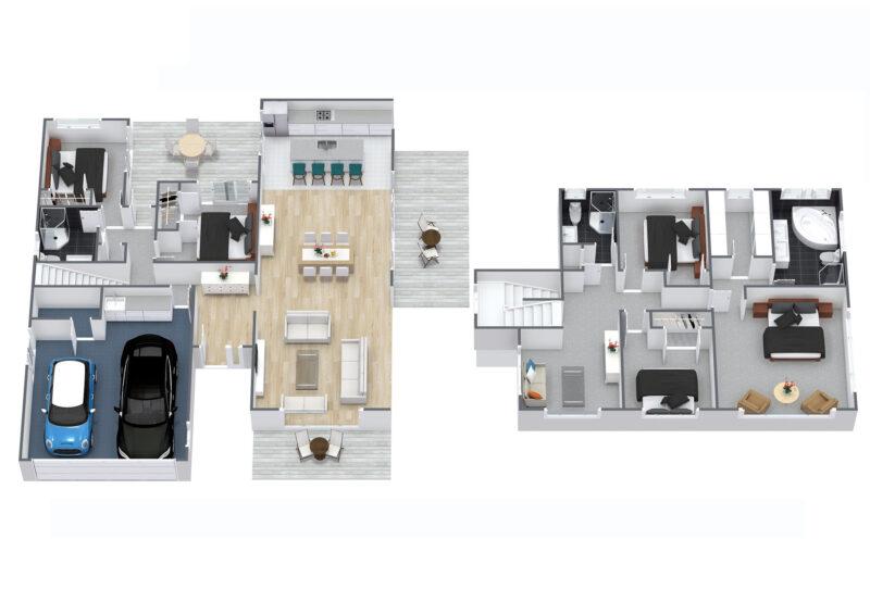 Floorplan letterhead - 19 Fennell Crescent, Silverdale - 1. Floor - 3D Floor Plan