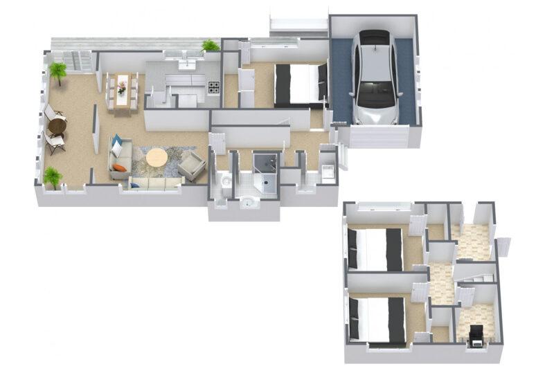 Floorplan letterhead - 31 John Davis Road,Mt Roskill - 1. Floor - 3D Floor Plan