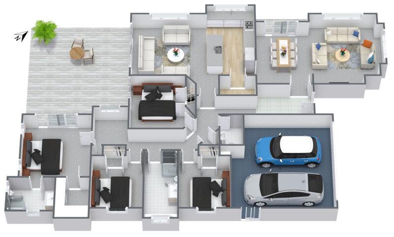 Floorplan letterhead - 81 Colonial Drive - 1. Floor - 3D Floor Plan